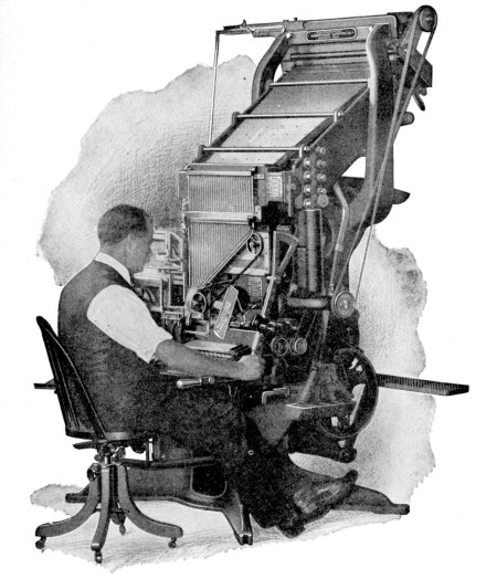 The linotype did indeed produce a line of type from hot metal.  The lines were then placed in order in a form within a printing press.  (Photograph: Wikipedia.com)