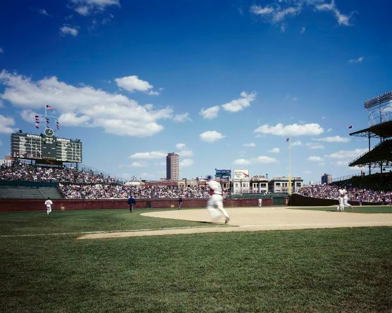 I didn't make ALL the MLB parks west of my hometown, but I enjoyed this one: Wrigley Field in Chicago.  (Photo: Carol M. Highsmith)