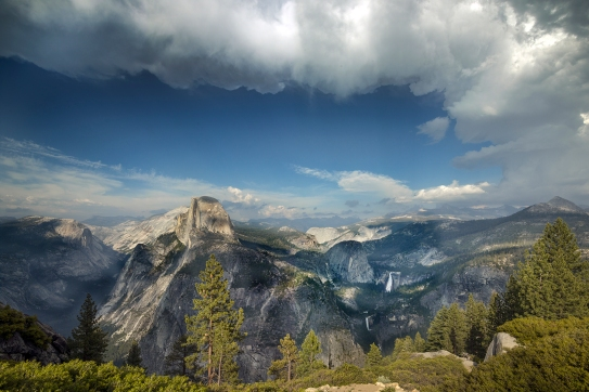 People pay a lot of money, and take a lot of time, just to see views like this, at Yosemite.  We are lucky.  We see them as part of our job.  (Photo: Carol M. Highsmith)