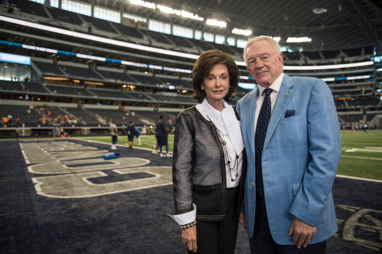 Gene and Jerry Jones at the Cowboys' sports palace in Arlington, Texas.  (Photograph: Carol M. Highsmith)